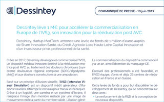 Dessintey lève 1 M€ pour accélérer la commercialisation en Europe de l'IVS3